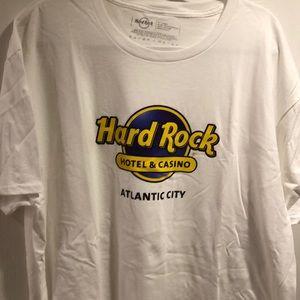 Hard Rock Atlantic City Classic NWT white T Shirt